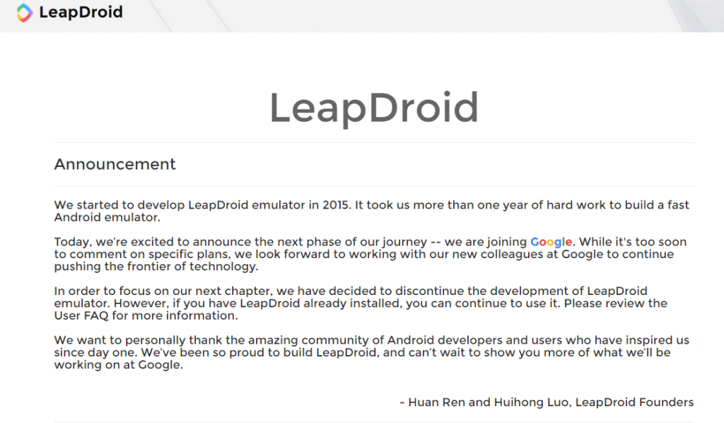 leapdroid-joining-google