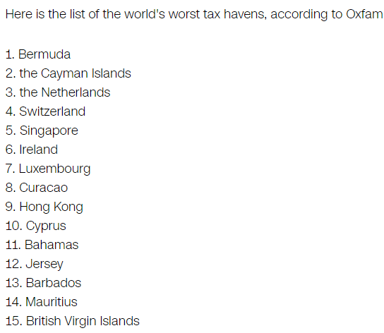 oxfam-worst-tax-havens