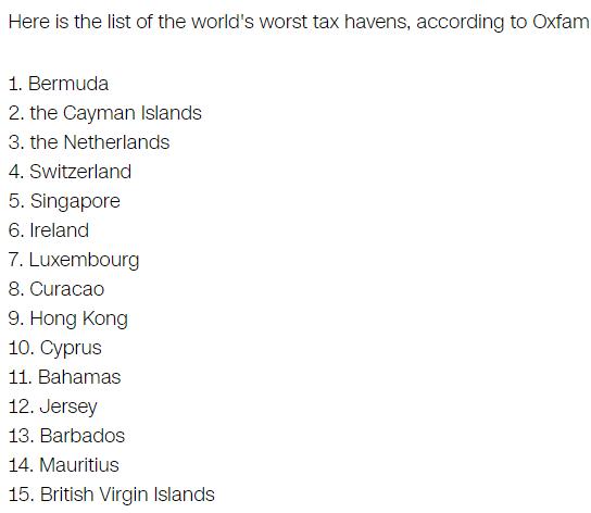 oxfam-worst-tax-havens